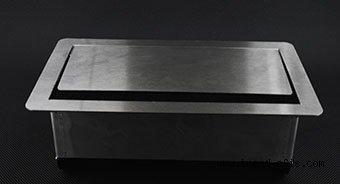 3612 Paslanmaz Masa Üstü Priz Kasası (Metal Gömme Priz Kutusu) 10 Modül
