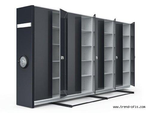 Dörtlü Kompakt Arşiv Dolabı Sistemleri